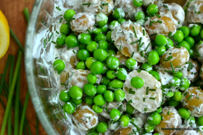 New Potato and Garden Pea Salad | The View From Great Island