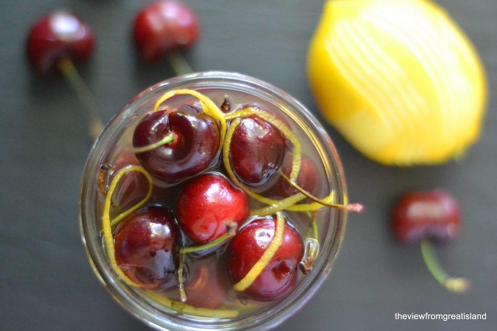 Limoncello Cocktail Cherries
