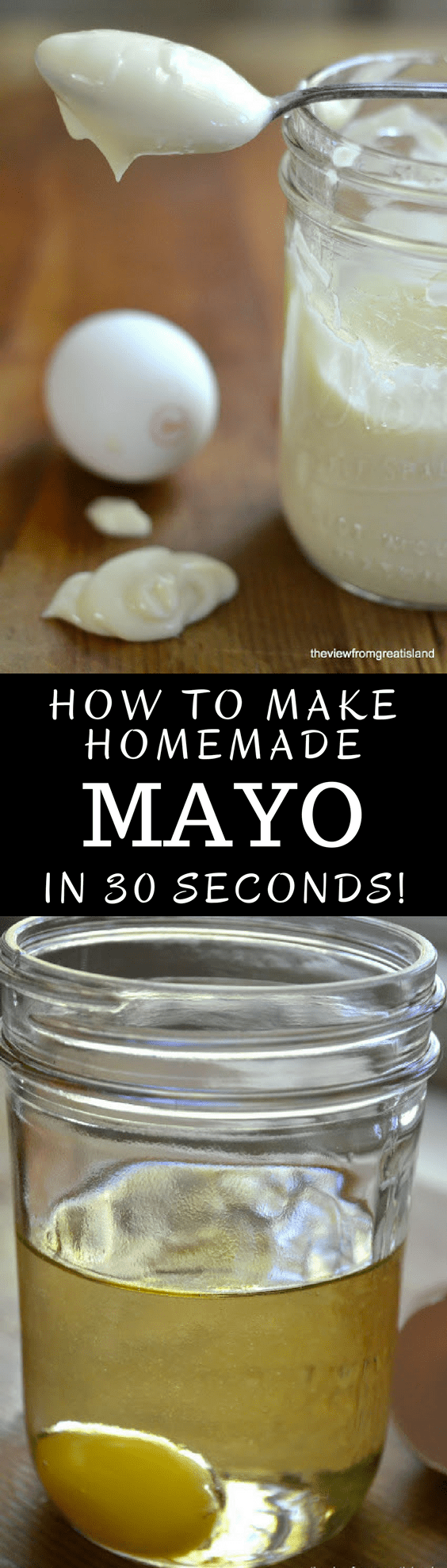 30-Second Mayonnaise is the perfect storm of recipes. Just 2 ingredients, 30 seconds, and you have one of the great sauces in culinary history. #homemademayonnaise #recipe #howtomakemayonnaise #condiment