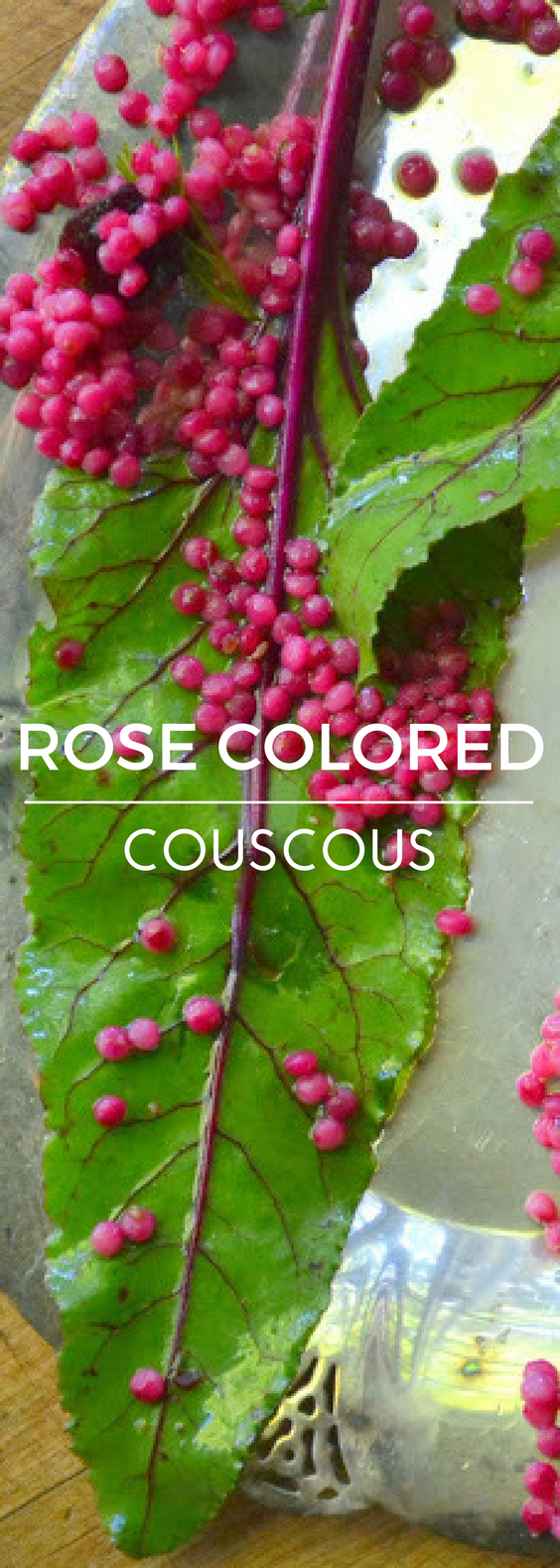 Rose Colored Couscous, or Israeli Couscous with Beets and Walnuts is a uniquely beautiful and healthy pasta salad ~ the grains of couscous are stained a gorgeous magenta pink and it's a show stopper!