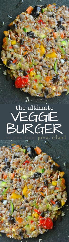 The Ultimate Veggie Burger ~ I'm not a fan of vegetarian food that pretends to be anything other than what it is. I love veggies, and I don't see why they should need to disguise themselves. But I make a small exception in the case of veggie burgers. The burger is the all American summer treat, and, to be honest, half of the fun is the bun and all the toppings. Switching out a healthy meatless burger just makes so much sense. You can make a big batch of these and freeze them for easy healthy eating all summer long.