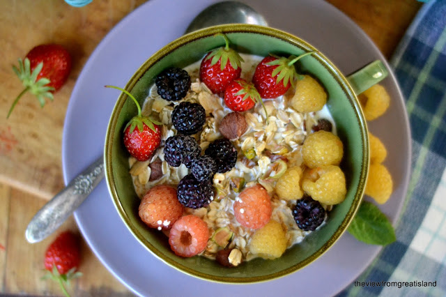 Homemade Muesli is a cross between oatmeal and granola - and so healthy!