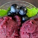 Black Grape and Cognac Sorbet
