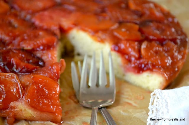 Caramelized Plum Upside Down Cake