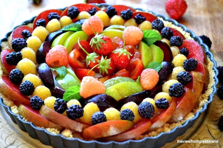 panna cotta fruit tart