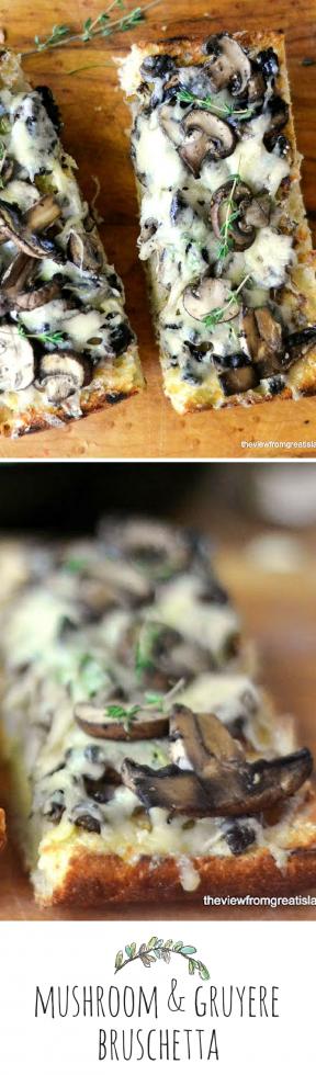 mushroom and gruyere bruschetta