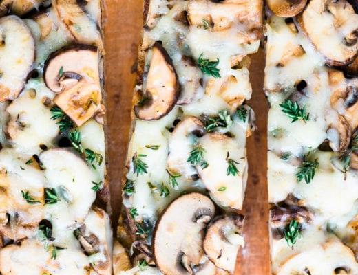 Mushroom Gruyere Bruschetta with Thyme