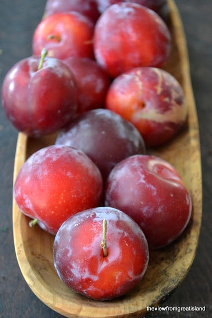 Fresh plums for Caramelized Plum Upside Down Cake