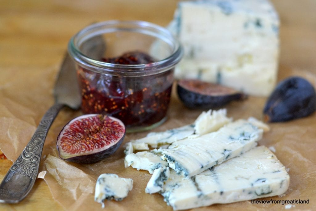Cardamom Fig Jam with blue cheese