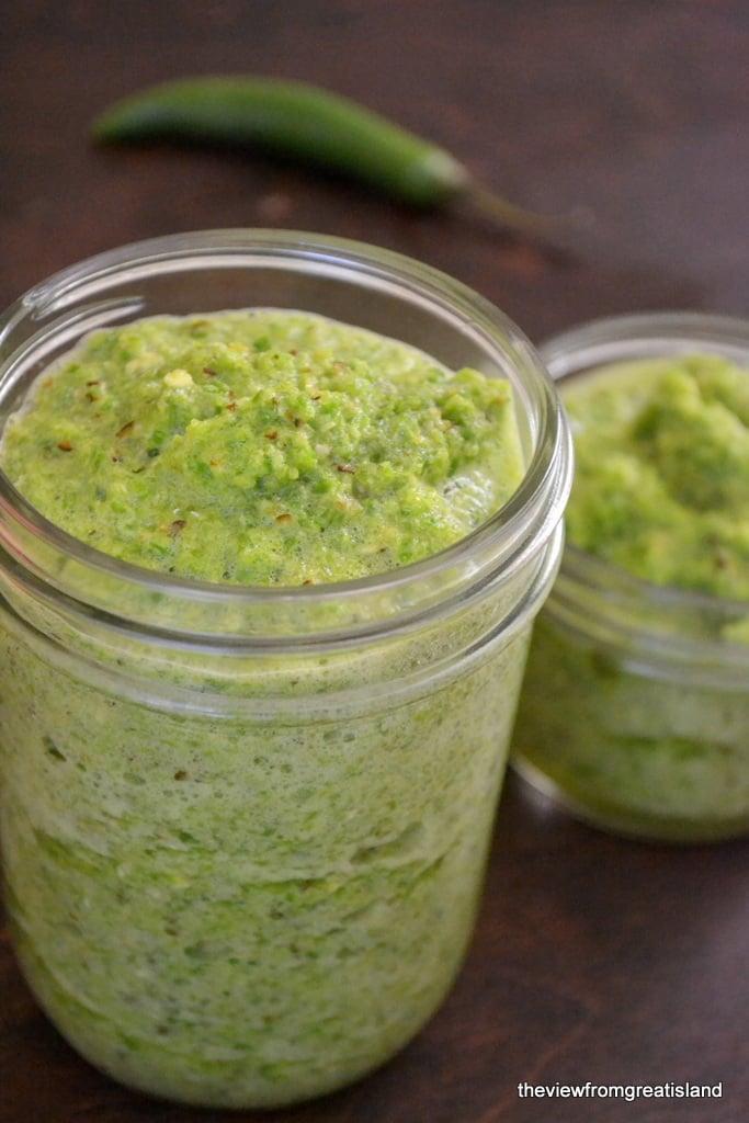Making Green Tabasco Sauce