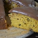 Pumpkin Cake with Nutella Frosting
