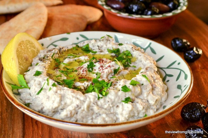Baba Ganoush, a wonderful Middle Eastern eggplant appetizer
