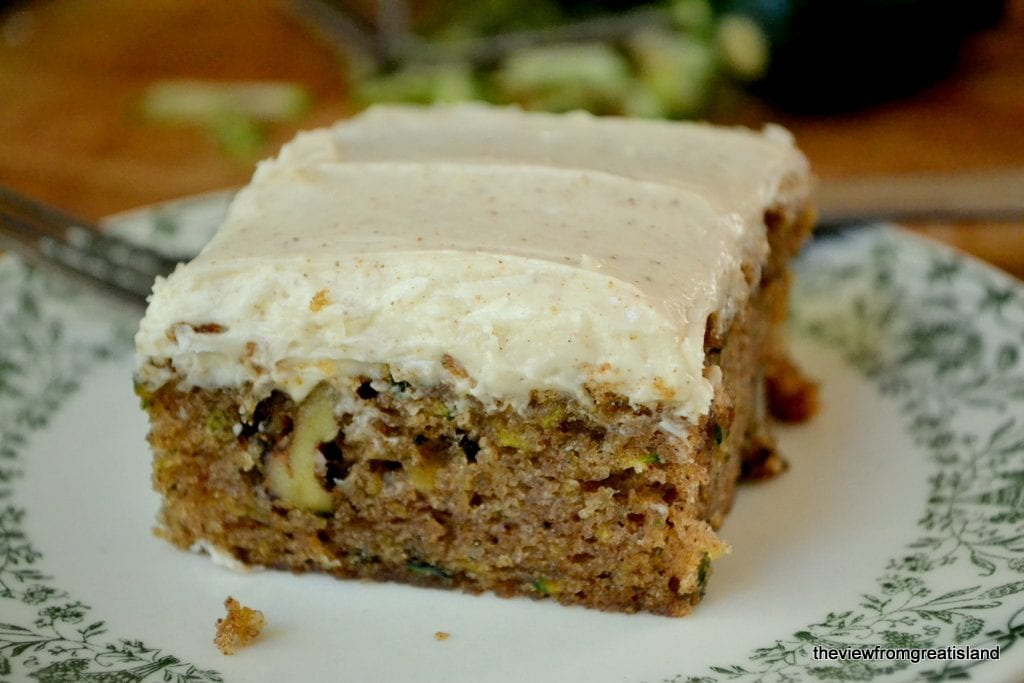 Zucchini Cake with Browned Butter Frosting