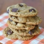 Gluten Free Almond Butter Chocolate Chip Cookies