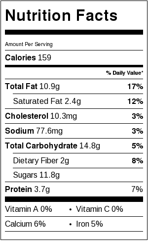 Flourless Almond Butter Cookie nutrition label
