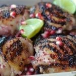 Pomegranate and Lime Chicken Thighs