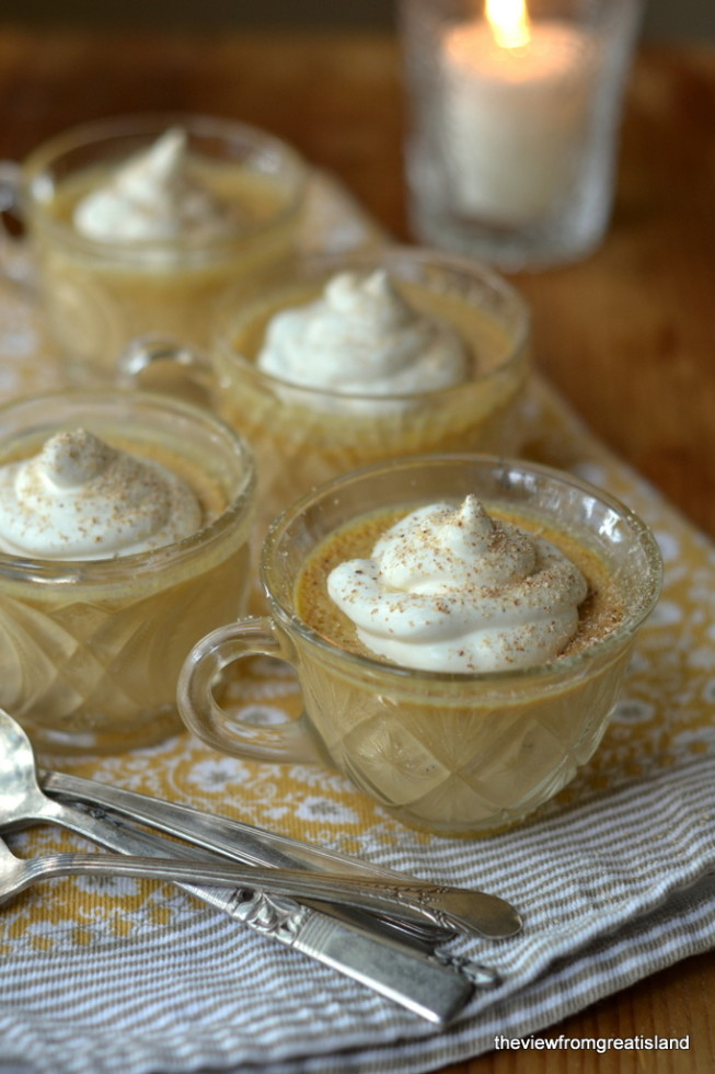 Pumpkin Pot de Crème with Maple Whipped Cream | The View from Great Island