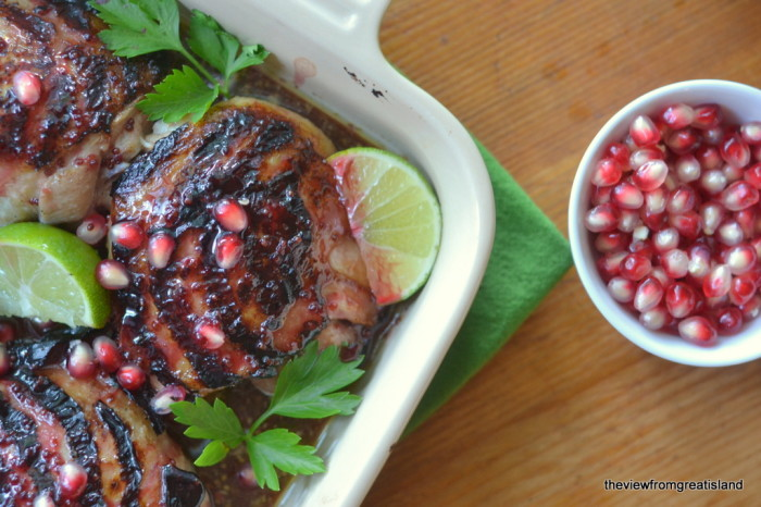 Grilled Pomegranate and Lime Chicken | The View from Great Island 4