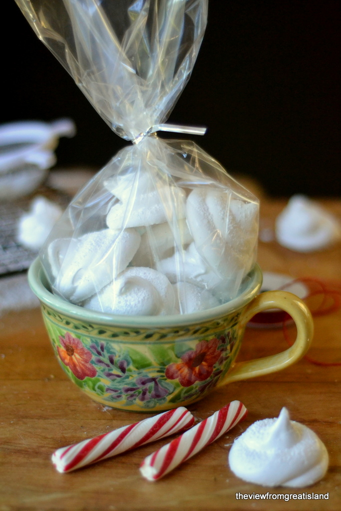 Homemade Marshmallow Dollops in mug