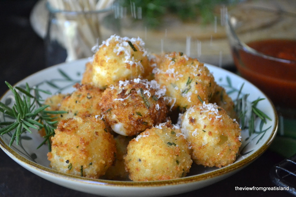 Fried Rosemary Mozzarella Balls - The View from Great Island
