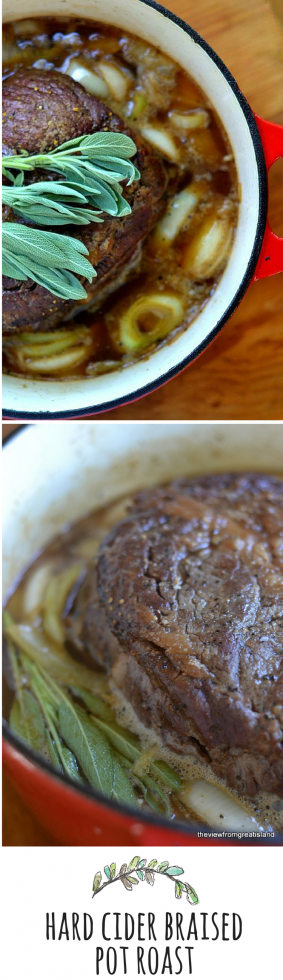 Low and slow cooking makes a super tender pot roast!