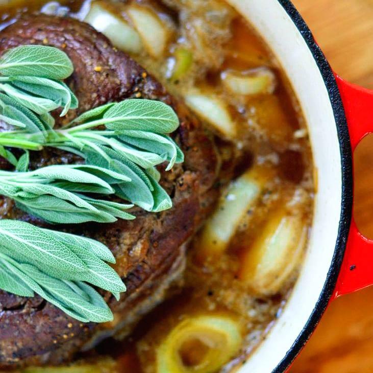 Hard Cider Braised Pot Roast