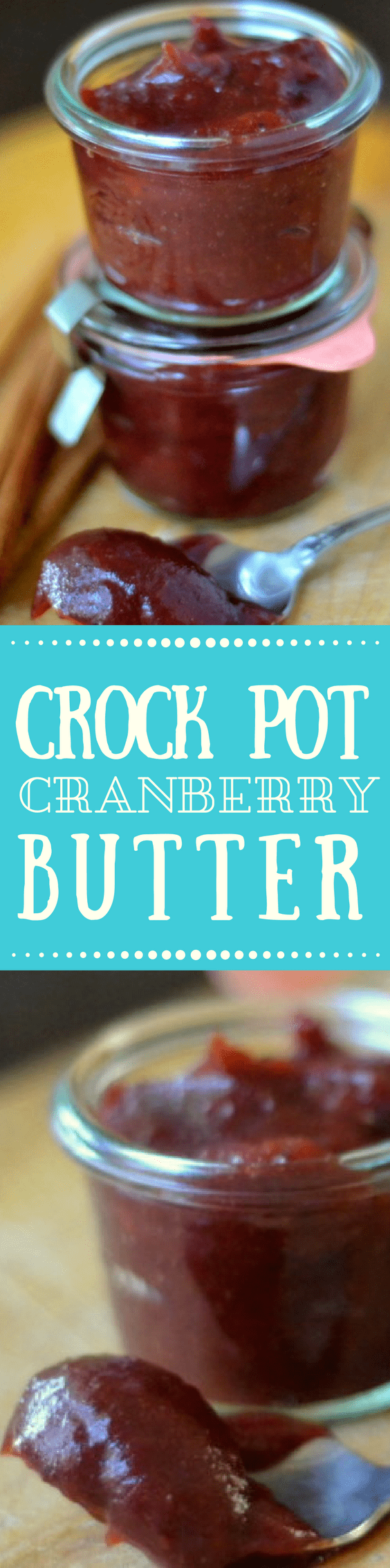 Crock Pot Cranberry Butter is an impossibly silky, tangy fruit butter that is made right in the crock pot ~ you'll want to slather it on toast, scones, biscuits, muffins, turkey sandwiches ~ and so much more! #cranberries #cranberrybutter #applebutter #crockpotapplebutter #Thanksgiving #cranberrysauce #cranberryjam #smallbatchjam #refrigeratorjam #cranberryrecipe
