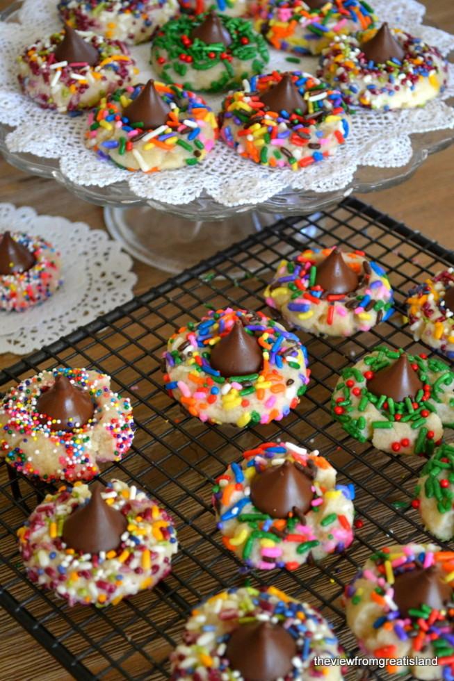 Thumbprints, Hershey's Blossom Cookies