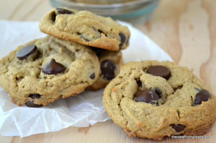 Flourless Peanut Butter Chocolate Chip Cookies, Gluten Free   The View from Great Island 10