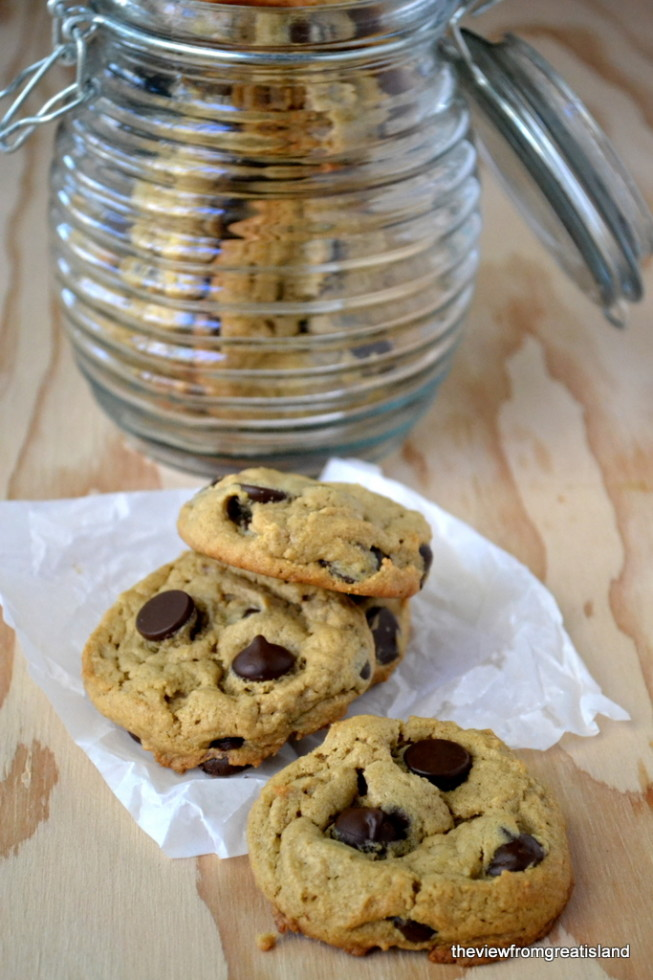 Flourless Peanut Butter Chocolate Chip Cookies, Gluten Free   The View from Great Island 9