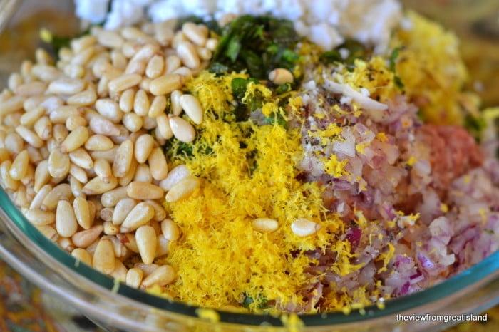 Moroccan Lemon and Cardamom Meatballs ingredients