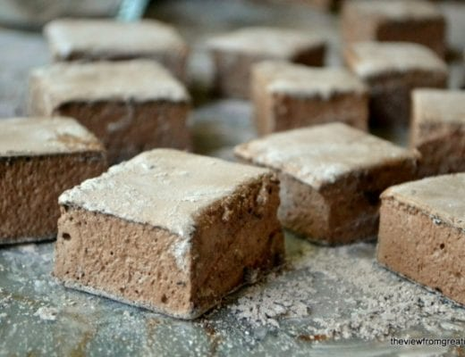 Chocolate Marshmallows cut