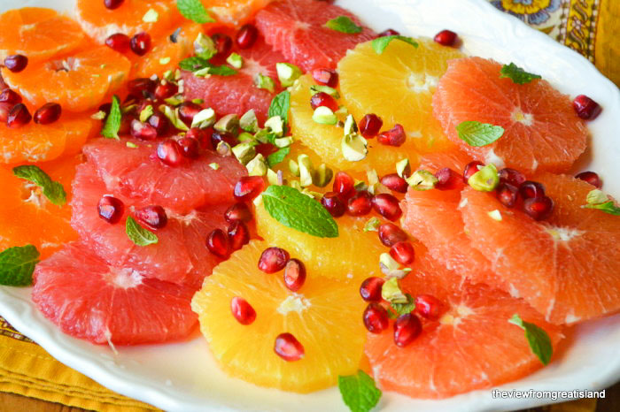 Mixed Citrus Salad with Pistachios