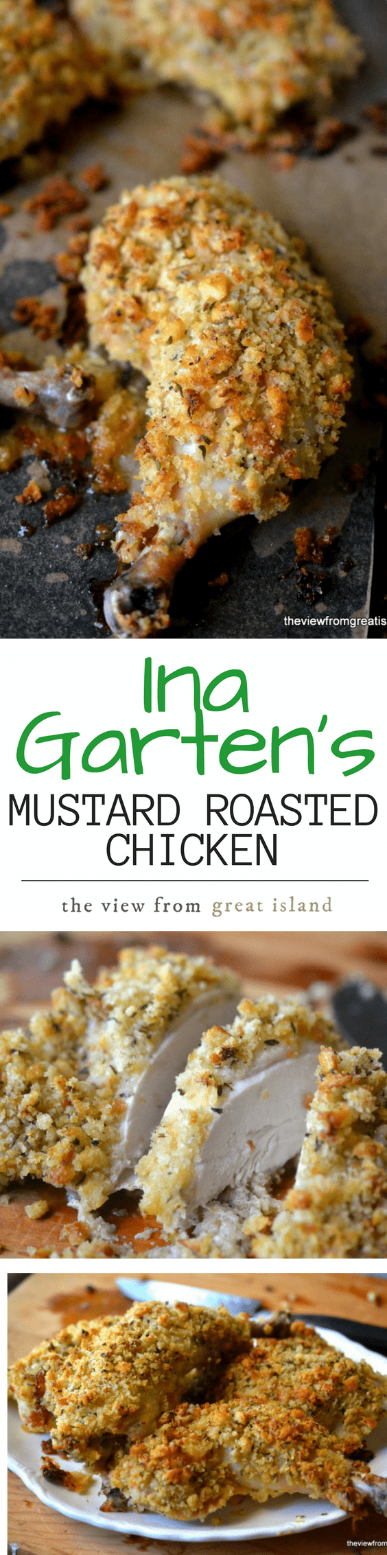 Ina gartens mustard roasted chicken the view from great island dont forget to pin ina gartens mustard roasted chicken forumfinder Images