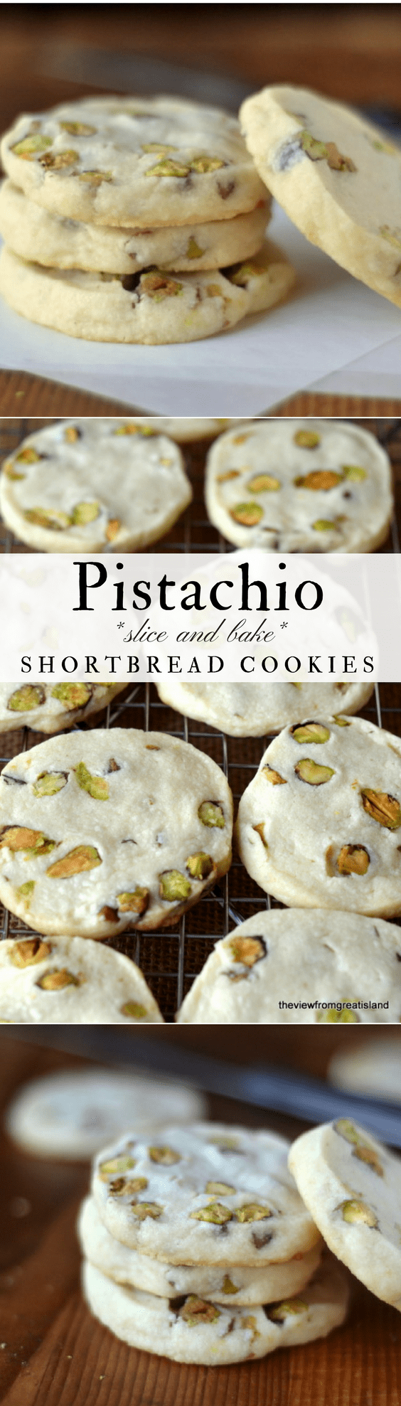 Pistachio Shortbread Cookies | The View from Great Island