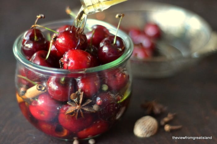 Making Spiced Cocktail Cherries