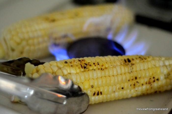 Fire Roasting Corn