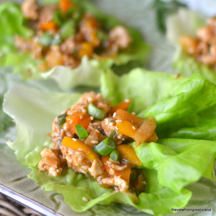 Spicy Ginger Lettuce Wraps square