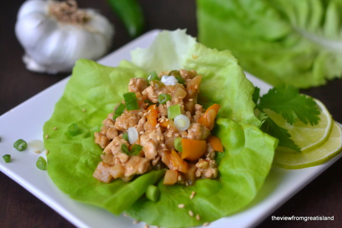 Spicy Ginger Lettuce Wraps 1