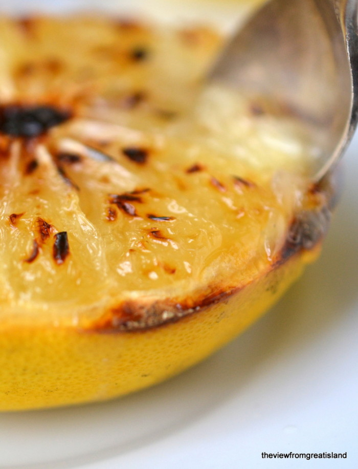 Grapefruit Brulee close up