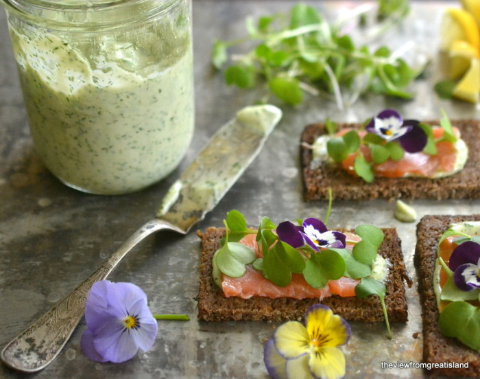Nordic Open Faced Smoked Salmon Sandwiches 3