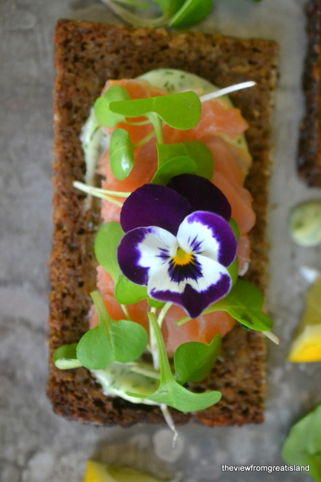 Nordic Smoked Salmon Open Faced Sandwiches 11