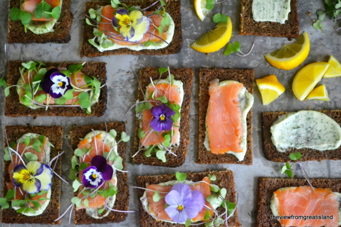 Nordic Open Faced Smoked Salmon Sandwiches 4