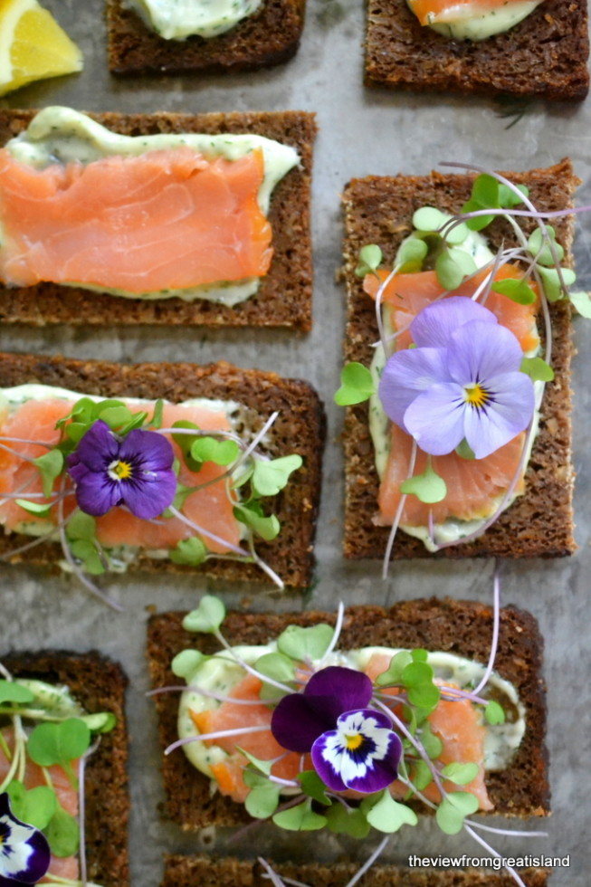 Nordic Open Faced Smoked Salmon Sandwiches 2
