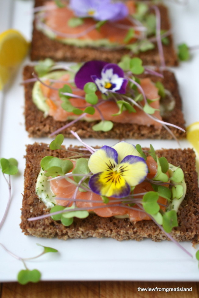 Nordic Open Faced Smoked Salmon Sandwiches 1