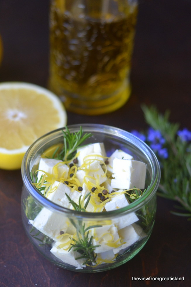 Marinated Feta with Grapefruit and Rosemary 2