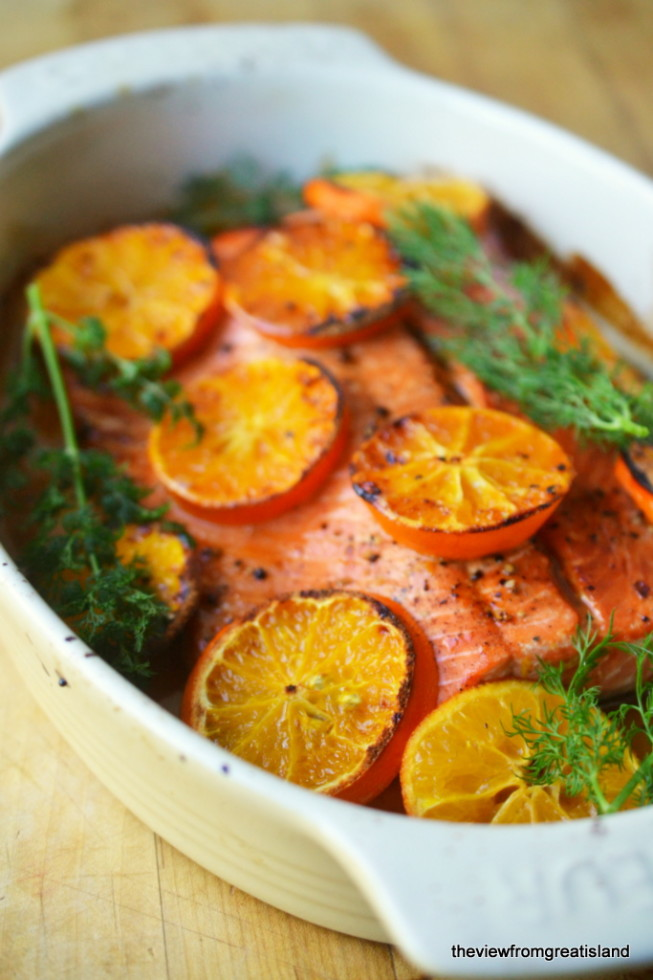 Vodka and Clementine Glazed Salmon 1