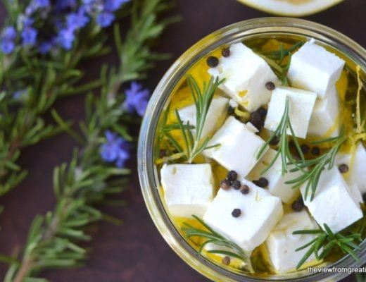 grapefruit and rosemary marinated feta