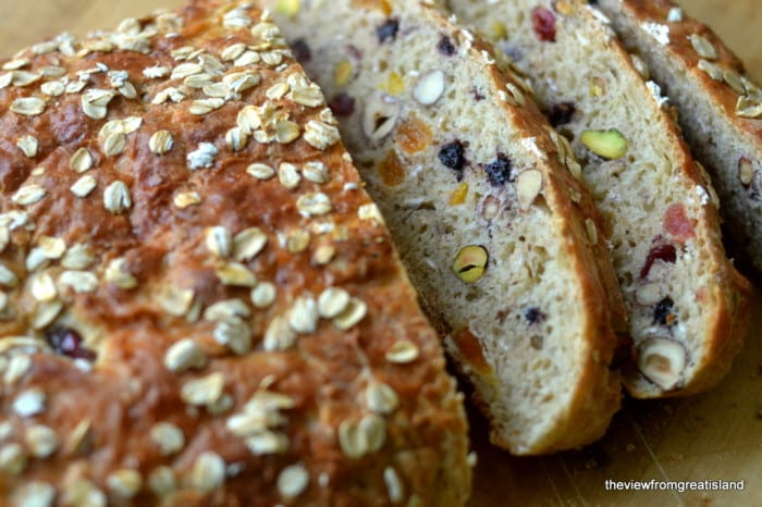 Muesli Fruit and Nut Toasting Bread is a chunky bread made specifically for toasting!