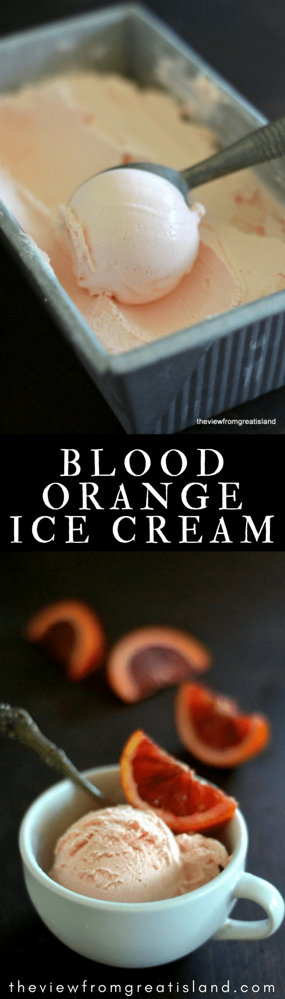 Blood Orange Ice Cream ~ take full advantage of blood orange season with this gorgeous homemade ice cream, it's bursting with that unmistakable berry/citrus flavor that blood oranges are famous for! #ICECREAM #HOMEMADEICECREAM #CITRUS #BLOODORANGES #CITRUSICECREAM #ORANGEICECREAM #CREAMSICLE #WINTERFRUIT #DESSERT